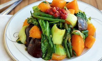 rau xuyến chi xào tỏi, cách làm rau xuyến chi xào tỏi, xuyến chi, cách xào rau, cách nấu ăn